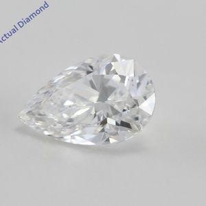 Pear Cut Loose Diamond 0.59 Ct E K.M C200364